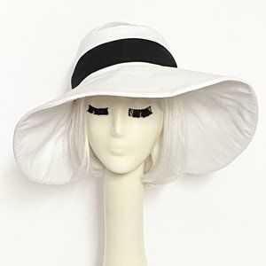 White Sun Visor Wide Brim Hat